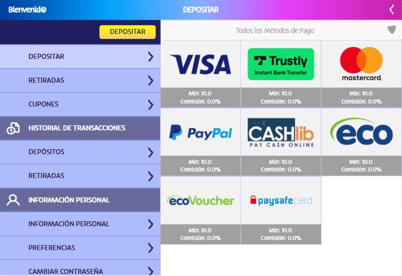 metodos de pago PlayUZU