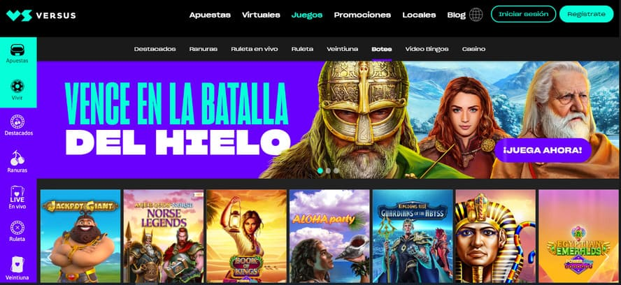 plataforma versus casino online