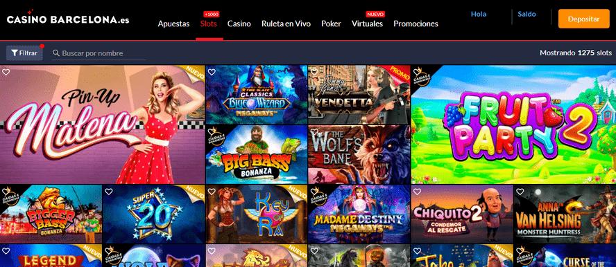 catalogo de más de 1000 slots y tragaparras online casino barcelona