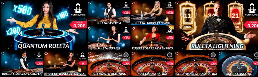 ruletas en vivo casino barcelona